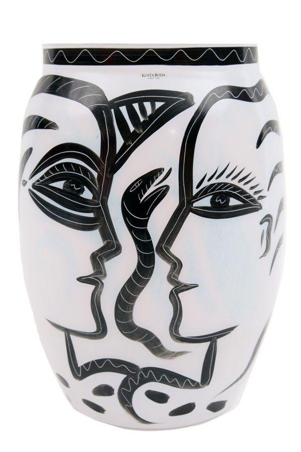 Kosta Boda Adam Eve & Serpent Glass Vase
