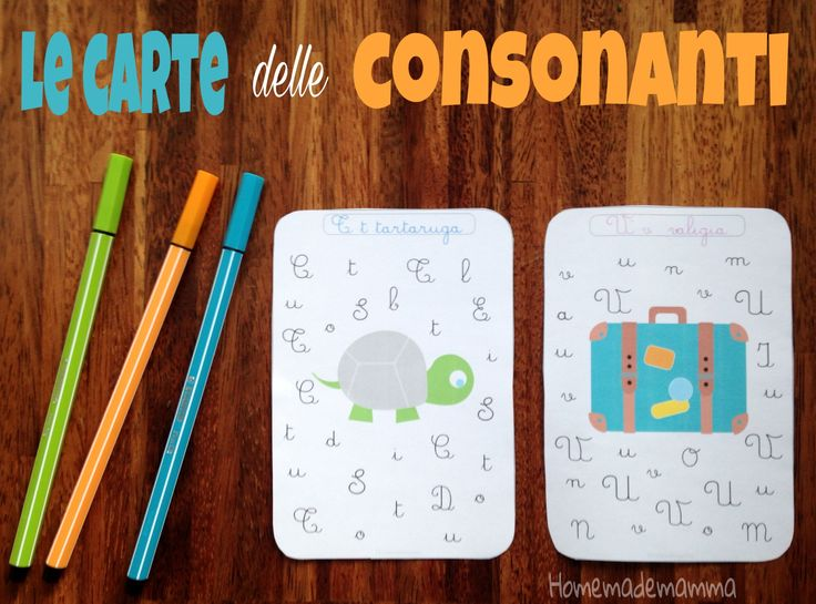 Le carte delle consonanti