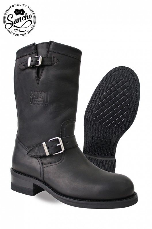 Your Sancho Boots´s online store | Motorcycle Sancho Boots CUSTOM ENGINEER BLACK mod 4107