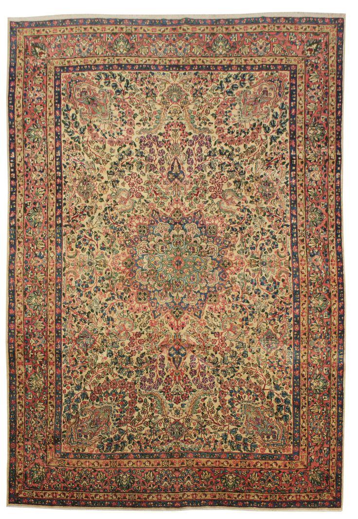 Cod. 10861 Kirman Antico 304x210 tappeto persiano antique rug
