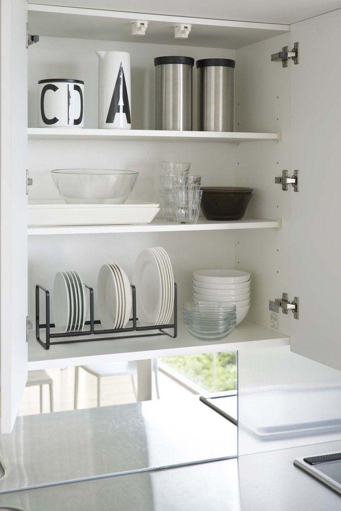 Tower Dish Storage Rack Wide Small By Yamazaki Kitchen Rack Design Dish Storage Kitchen Rack