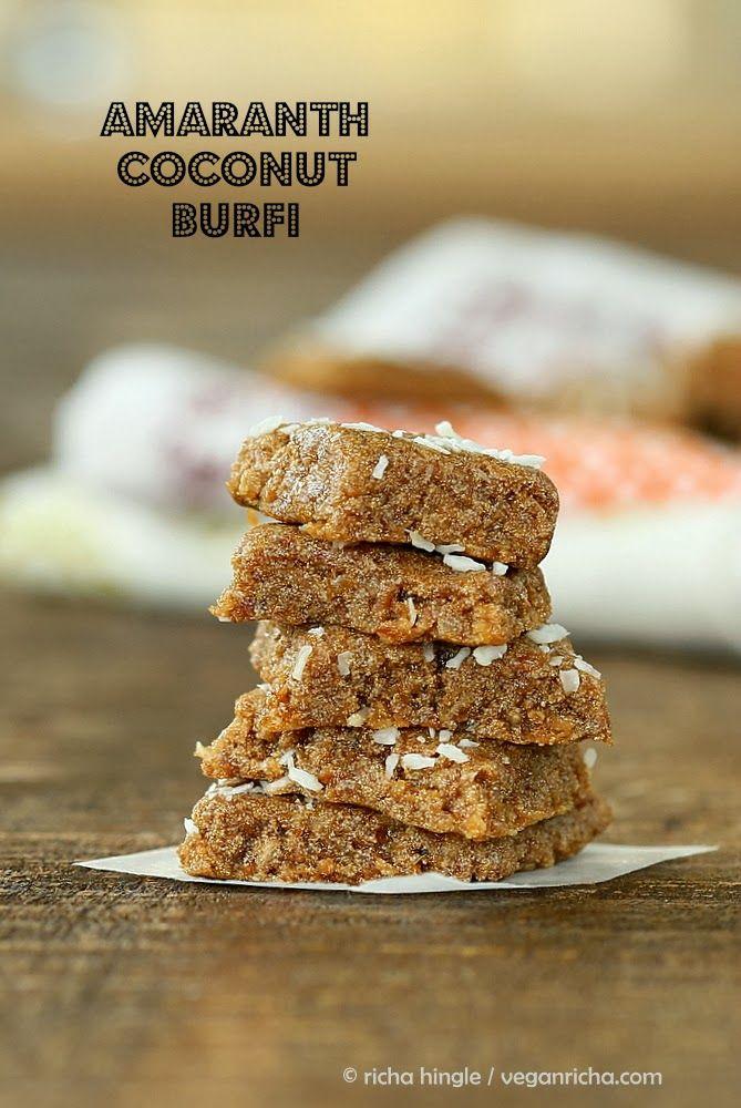Rajgira Burfi - Amaranth Coconut Fudge, Amaranth Burfi Candy . Vegan Glutenfree - Vegan Richa