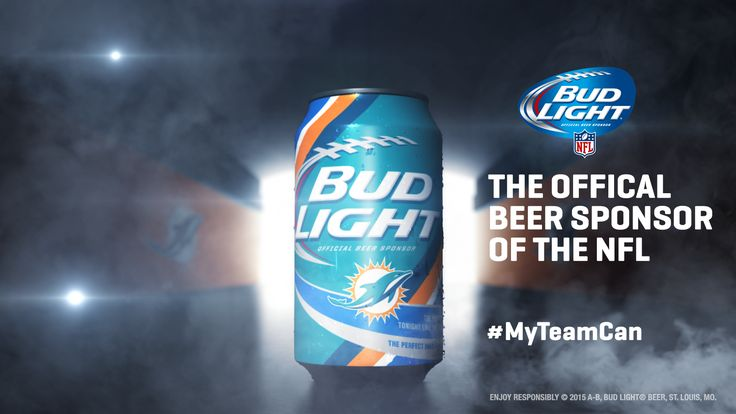 Miami Dolphins fans will be holding this team-specific Bud Light can during the 2015 NFL season. - Provided by Forbes