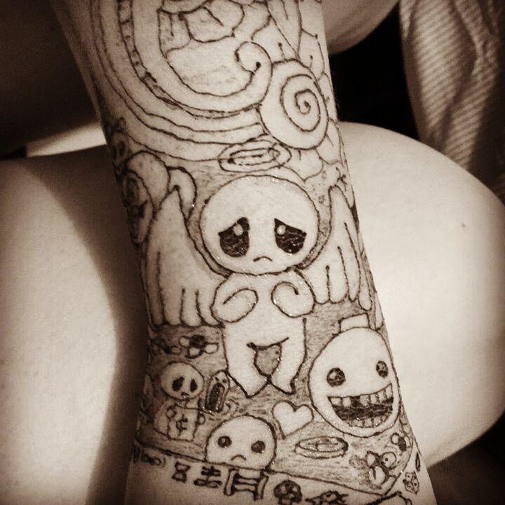 Self Henna Tattoo The Binding Of Isaac Henna Hennatattoo