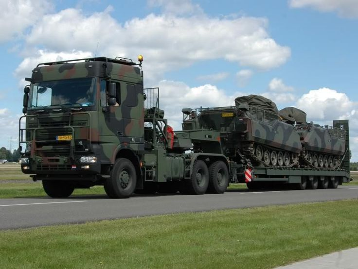 Daf Dutch Army Oversized Loads Pinterest Military