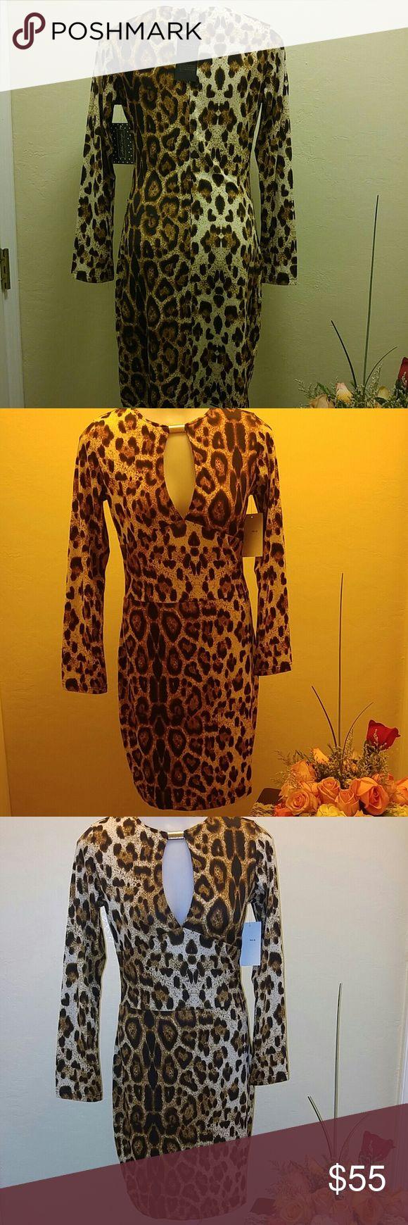 Tiger print dress Cute fashionable simple long sleeve tiger print dress .From the kim Kardashian line. shez Dresses Long Sleeve