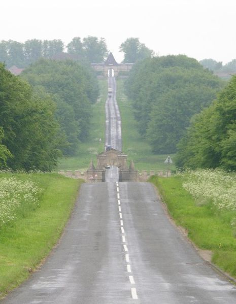 Approach to Castle Howard, York, England - Thank you Brideshead for giving me another place to go visit when I eventually get to England someday!  :)