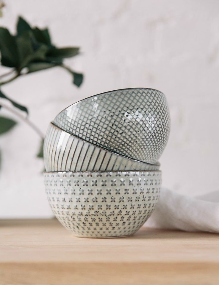 Set of 3 Geometric Patterned Bowls at Rose \u0026 Grey & 53 best tableware images on Pinterest | Dishes Dinnerware and ...