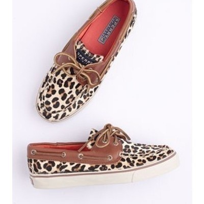 love the leopard print in these boat shoes