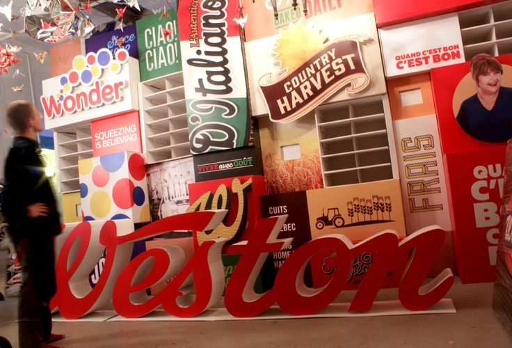 Custom Cardboard Convention booth for Weston Foods