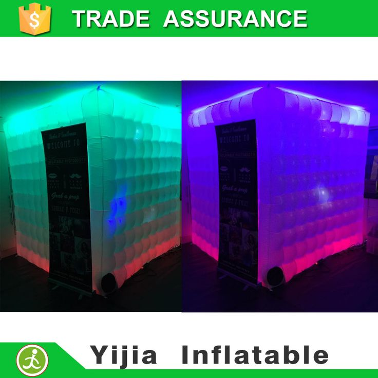 >> Click to Buy << Free shipping Custom Led inflatable tent white cube inflatable photo booth for sale  #Affiliate