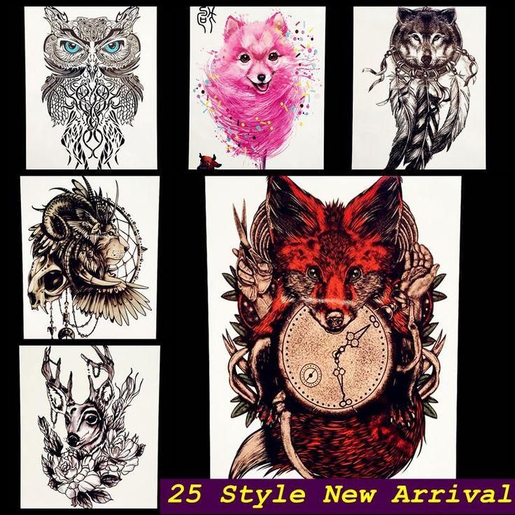 Sexy Red Fox Designs Flash Tattoo Body Art Armmanschette Tattoo aufkleber ghb388 gefälschte wolf tatoo selfie wand auto styling home decor