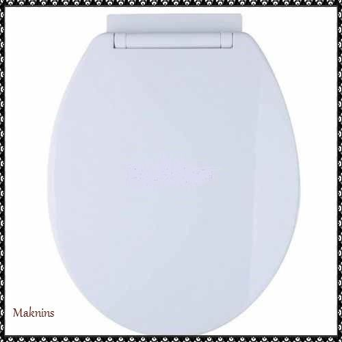 Oval Toilet Seat Slow Soft Close White Bottom Fixing Home Bathroom Accesories