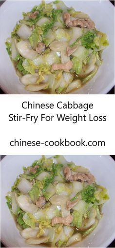 Healthy Chinese cabbage stir-fry recipe for weight loss: Low carb, low calorie, …