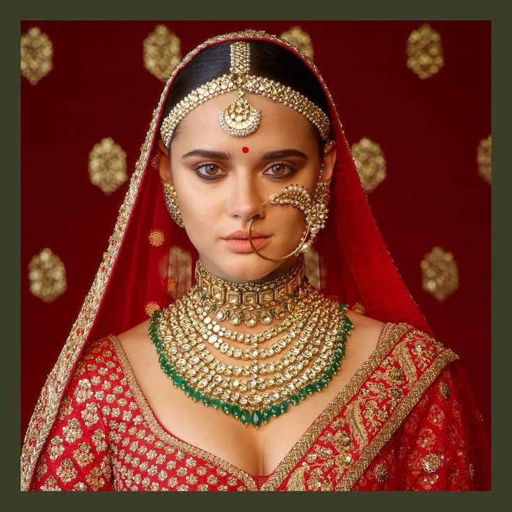 Heritage wedding jewelry in uncut diamonds & emeralds. #Sabyasachi #SabyasachiJewelry #TheWorldOfSabyasachi