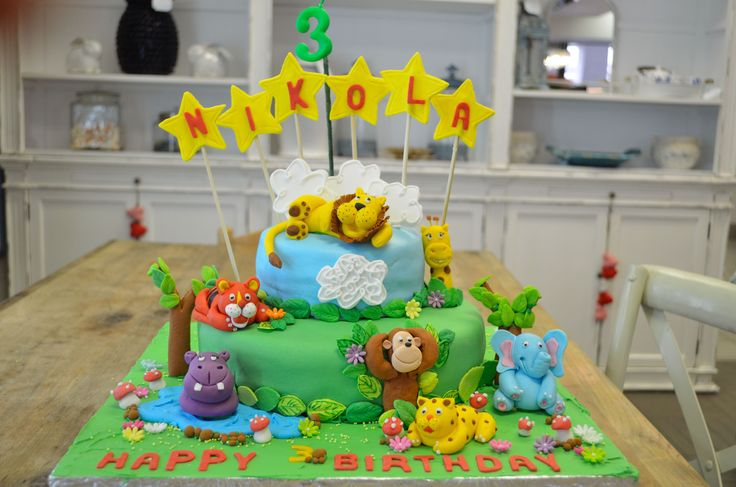 How beautiful is this animal themed cake we made recently?!