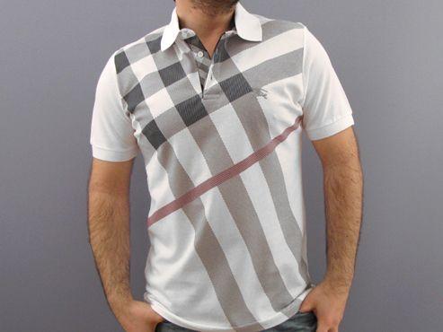 Burberry Mens Polo Shirt WHITE