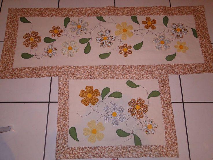 tapetes de tecido em patchwork - Pesquisa Google