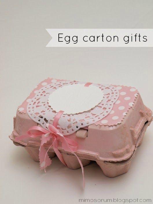 MIMOSORUM : Cómo Envolver un Regalo con una Huevera - DIY: Egg Carton Gifts
