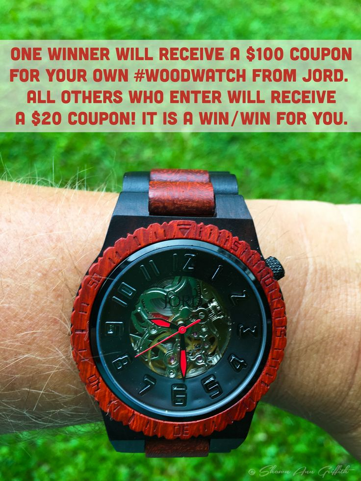 Enter to win a $100 coupon from Jord for your own Wood Watch. All those who enter win a $20 coupon even if not chosen as main $100 winner.  Enter at https://www.woodwatches.com/g/griffith.  Post sponsored by Jord Wood Watches.