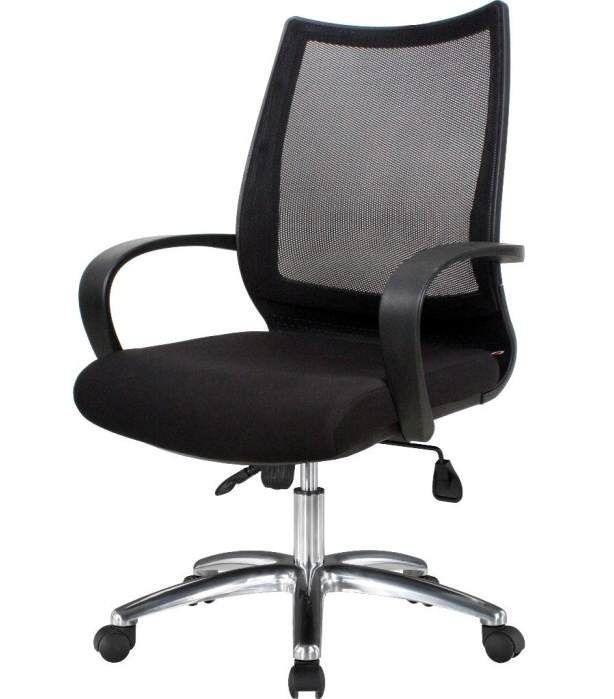 Tilt mekanizmalı toplantı koltuğu ürünümüzde krom ayak ve fileli kumaş kullanılmıştır. Dökme süngerli olan koltuk çok dayanıklı malzemeden üretilmiştir. Fileli toplantı koltuk.