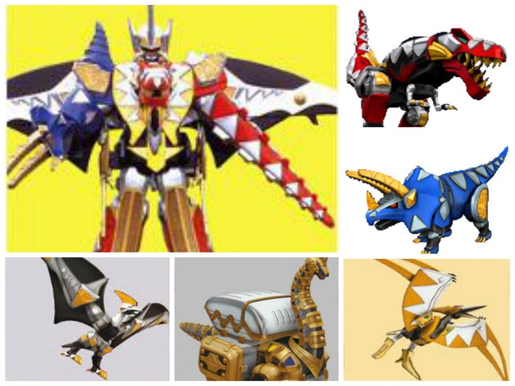 Dino Thunder Zords | Power Rangers Collages | Pinterest