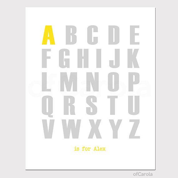 Kinder Zimmer Dekor ersten Monogramm Alphabet Namen von ofCarola, $15.00