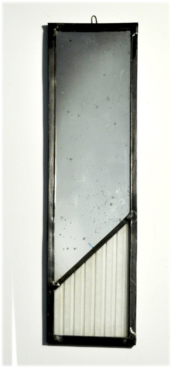 decorative stained glass mirror by glassattacks on Etsy