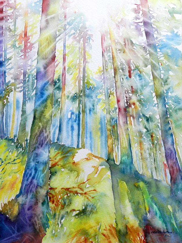 landscape watercolor - acquerello paesaggio