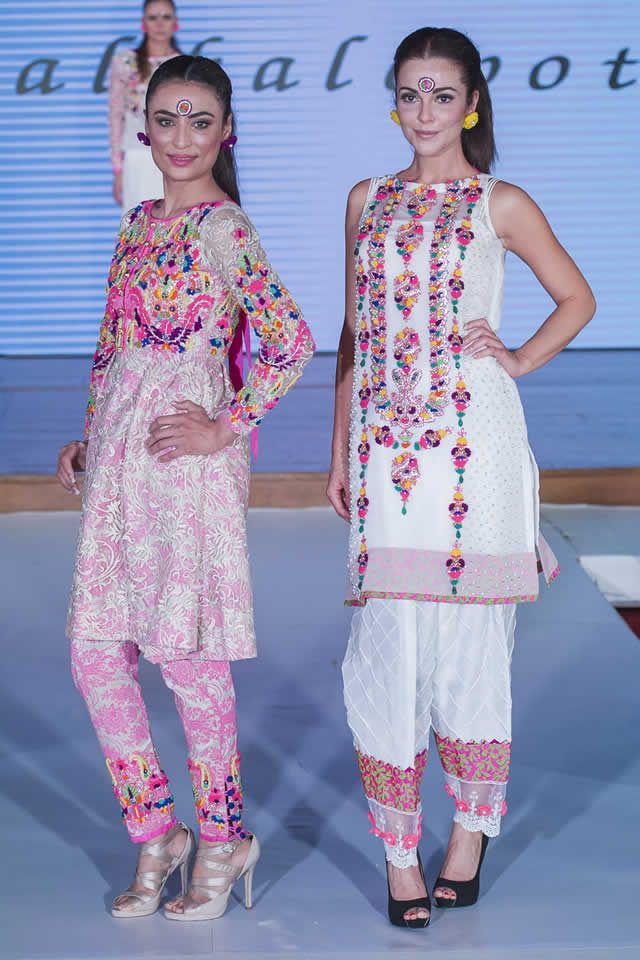 Pakistan Fashion Week 8 London 2015 Somal Halepoto Formal Dresses