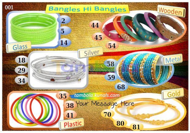 bangles tambola