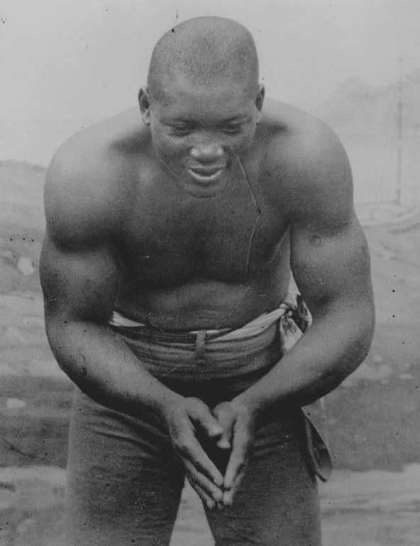 """The first African-American heavyweight champion of the world, the """"Galveston Giant"""" Jack Johnson, was born 135-years ago on March 31, 1878."""