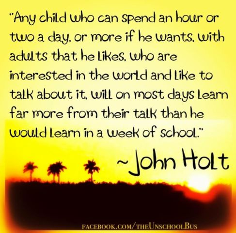 So much learning comes from simple conversation. #unschooling
