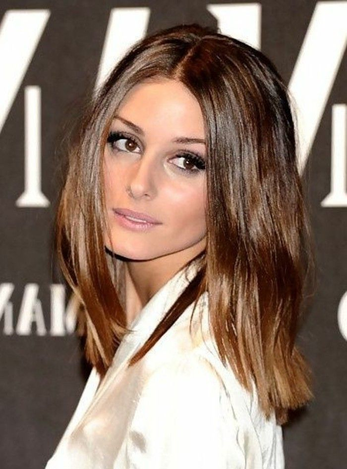 coloration chocolat de olivia palermo idee couleur de cheveux tendances 2017 - Marron Chocolat Coloration