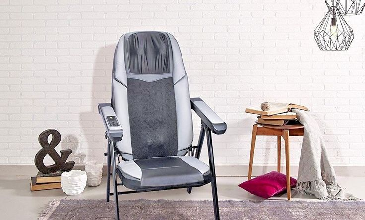 Adjustable Folding Shiatsu Massage Chair with Heat Mode and Kneading Rollers, Se #Bruntmor