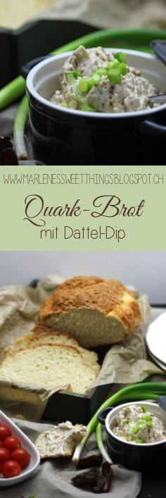 Quarkbrot mit Datteldip - Quark bread with date dip