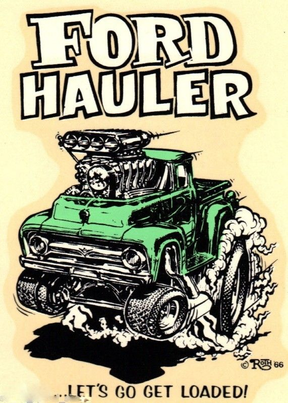 ☯☮ॐ American Hippie Art by ED Roth rat Fink Ford