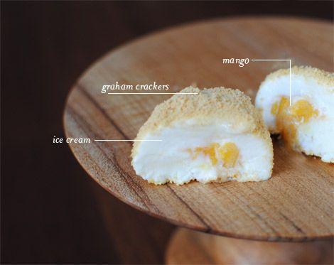 YUM! Ice-cream-mango-graham-crackers