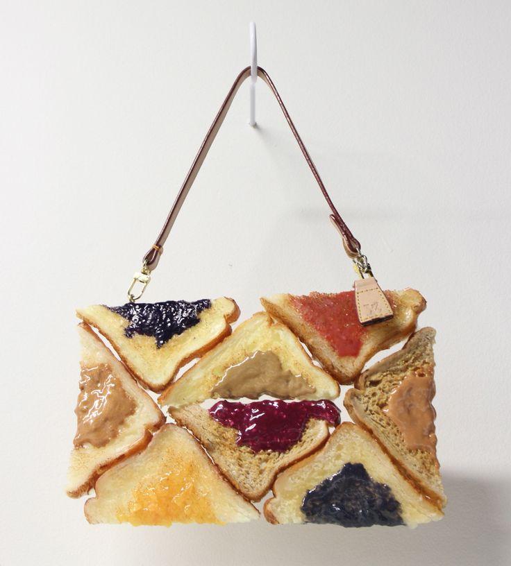 Chloe Wise - Bread Bags | PBJLV oil paint, urethane, hardware 2015