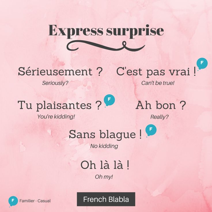 Expressions to express your #surprise #learnfrench #french #realfrench #language #vocabulary