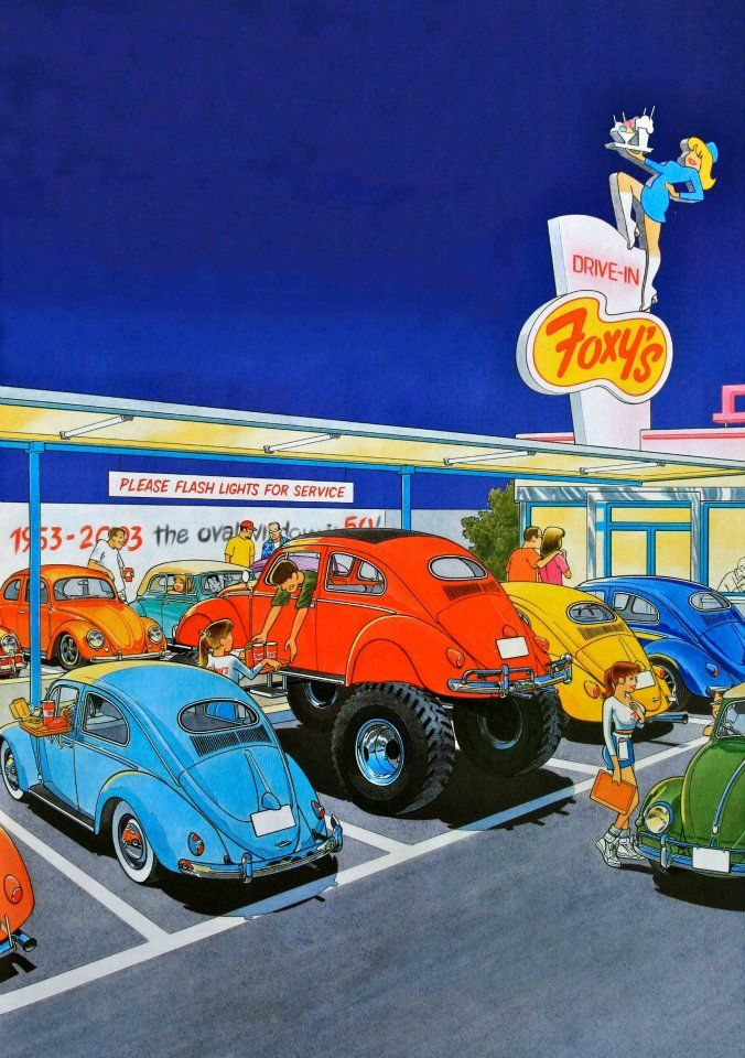 VW Illustrations by Pascal Meslet 80's Artworks