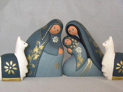 "5"" tall ceramic Nativity set"