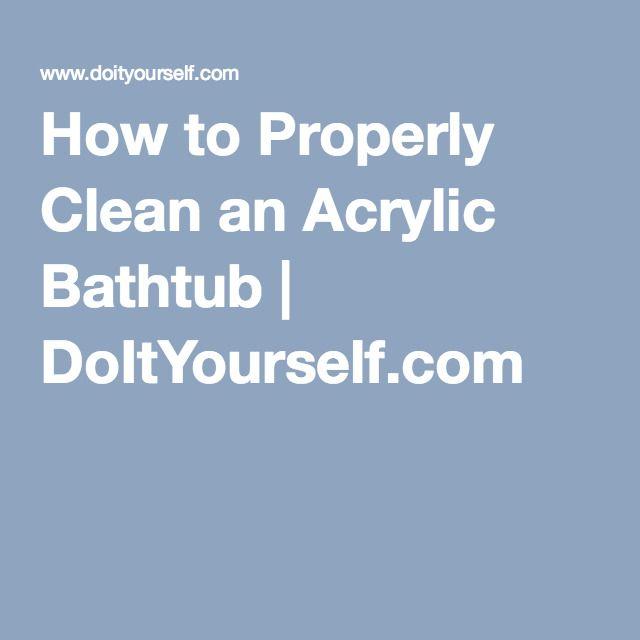 How to Properly Clean an Acrylic Bathtub | DoItYourself.com