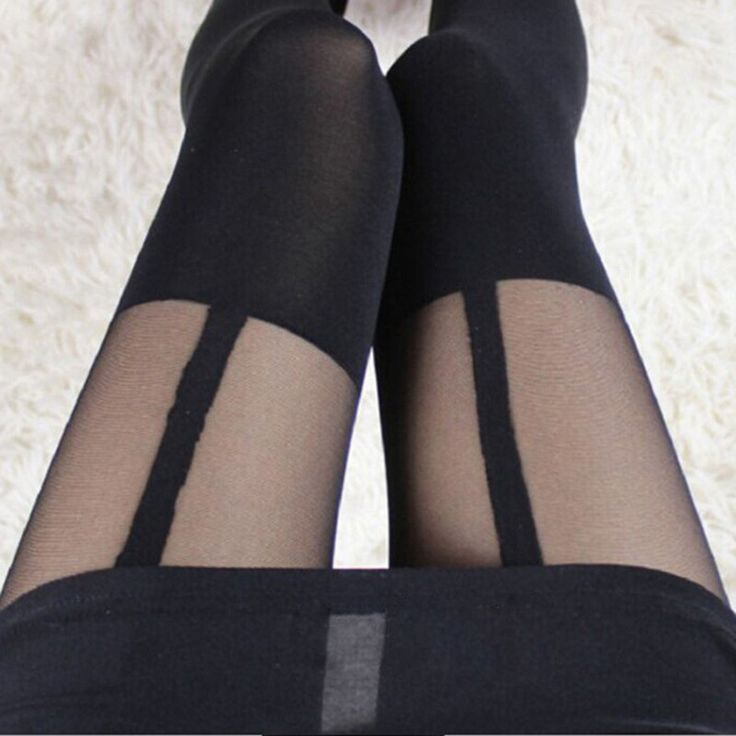 2016 Elegant Design Mock Suspender Tights  Comfortable Tights Highly Fashionable Stockings Patterned Pantyhose for Female