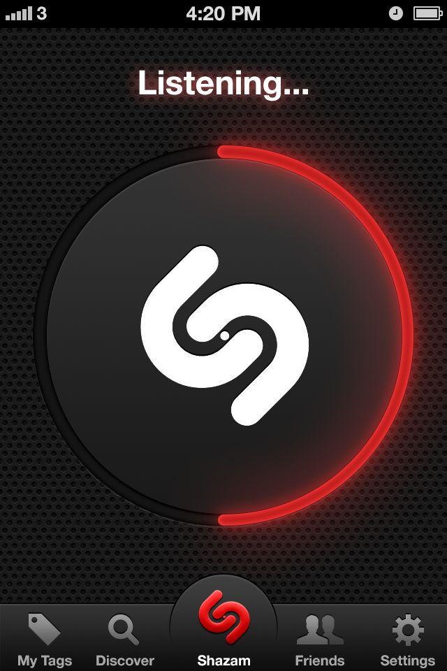 Listening loader - Shazam Red #UI