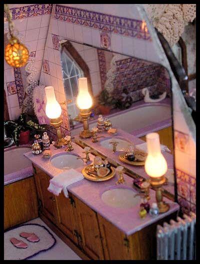 Miniature Victorian bath