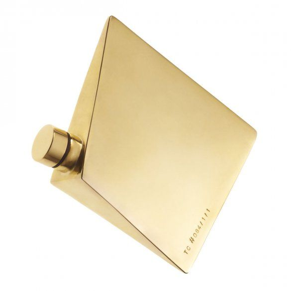If I was an alcoholic. Faceted gold flask