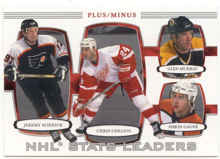 Chris Chelios / Jeremy Roenick / Glen Murray / Simon Gagne # 374 - 2002-03 BAP First Edition Hockey