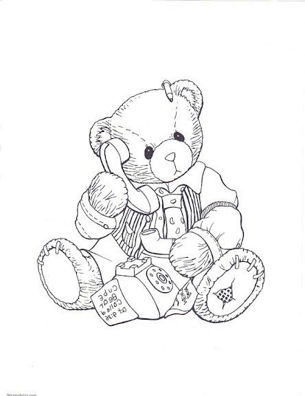 cherish teddy 4 | bear coloring pages, pattern coloring