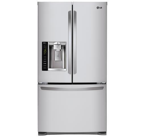 Door Stainless Door Refrigerator Water 24 Steel Lg Ft Thru 7 Ice Cu And French